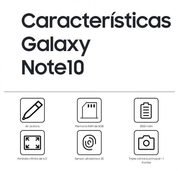 vivelaera caracteristicas samsung galaxy note 10